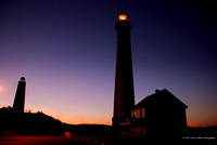 Cape Henry Lighthouses - Winter Sunset