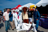 FM99 (WNOR-FM) and 106.9 The Fox (WAFX-FM) Announcers with the Polar Bears